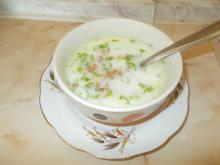 Cold Yoghurt Soup with Zucchini and Buckwheat