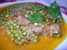 Veal with Peas, Carrots and Celery