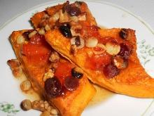 Baked Pumpkin with Honey and Walnuts