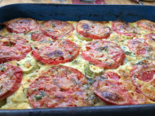 Oven-Baked Zucchini with Aromatic Topping