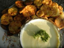Fried Zucchini with Yoghurt Sauce