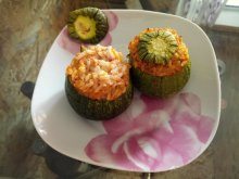 Stuffed Zucchini with Rice and Mince
