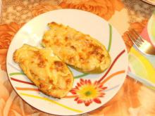 Stuffed Zucchini with Mince and Processed Cheese