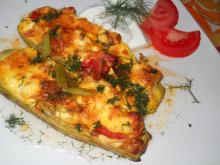 Zucchini with Eggs and Feta in the Oven