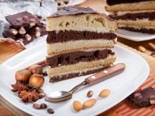 Two Color Hazelnut Cake