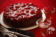 Cheesecake with Chocolate and Morello Cherries