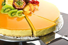 Fruity Cheesecake with Gelatin