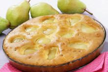 Fluffy Cake with Pears and Eggs