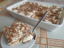 Biscuit Cake with Sour Cream and Almonds