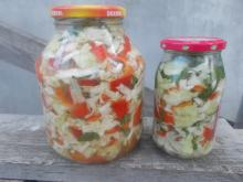 Pickle with Cabbage and Red Peppers