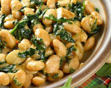 spinach and beans