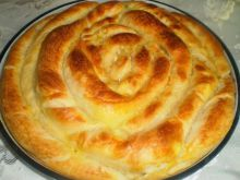 Homemade Spiral Phyllo Pastry with Butter