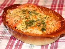 Gratin with Zucchini and Sausage