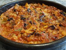 Oven-Baked Fresh Cabbage with Tomatoes