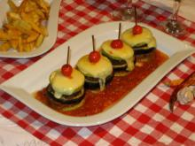 Vegetable Towers with Veal Meatballs