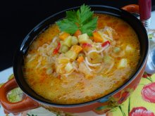 Low-Calorie Vegetable Soup for Cleansing and Burning Fat