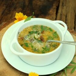 Lamb Soup with Mushrooms and Rice