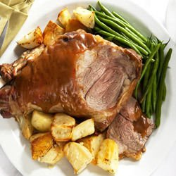 Roast Leg of Lamb with Honey