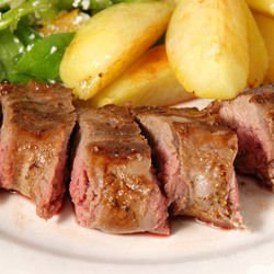 Lamb with Green Onions and Fresh Potatoes