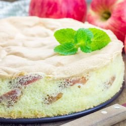 Apple Cake with Tea Biscuits