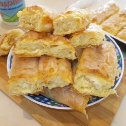 Phyllo Pastry with Feta and Cottage Cheese