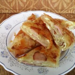 Pies with Ready Made Phyllo Pastry and Sausages