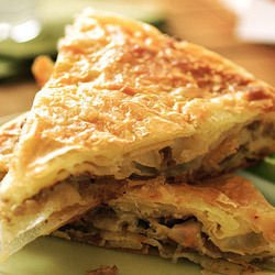 Pastry with Mushrooms and Tuna