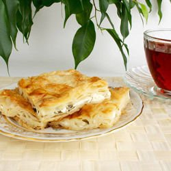 Phyllo Pastry with Mayonnaise and Feta Cheese