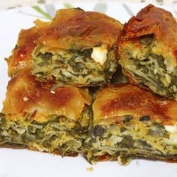 Nettle Pie (Zelnik) with Feta Cheese