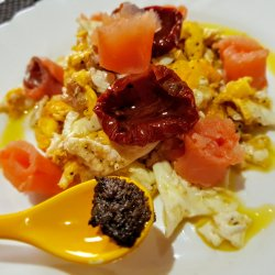 Scrambled Eggs with Smoked Salmon and Truffles