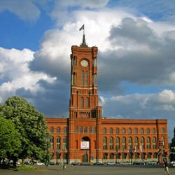 Historical Parks - Red City Hall in Berlin