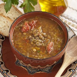 Lentil Soup with Leeks