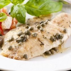 White Fish with Olives in the Oven