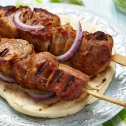 Skewers Marinated in Onions