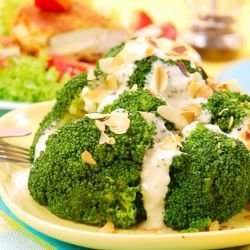 Broccoli with Blue Cheese and Nuts