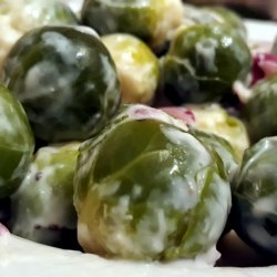 Brussels sprouts with Vegan White Sauce