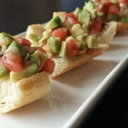 Avocado and Tomato Bruschettas