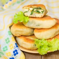 Buns with Green Onions
