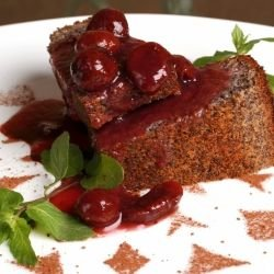 Sponge Cake with Sour Cherry Jam