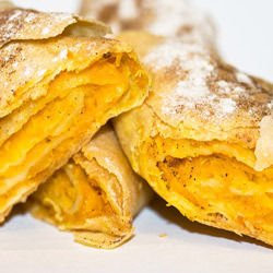 Strudel with Biscuits and Walnuts