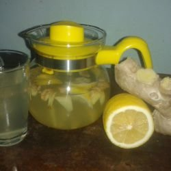Tea of Fresh Ginger and Lemon