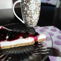Easy Blueberry Jam Cheesecake