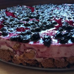 No Bake Cheesecake with Blueberries and Cottage Cheese