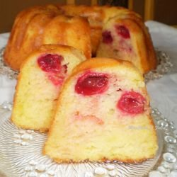 Cherry Cake with Syrup