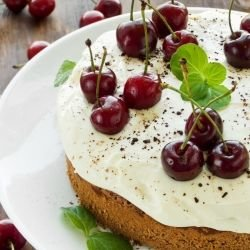 Cake with Morello Cherries
