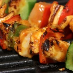 Skewers in a Grill Pan
