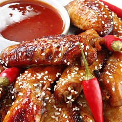 Honey Wings with Sesame Seeds