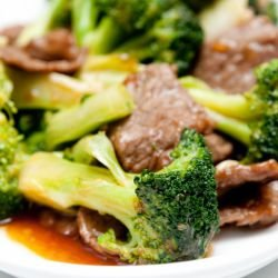 Tender Pork with Broccoli in the Oven