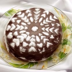 Russian Cake with a Butter Glaze