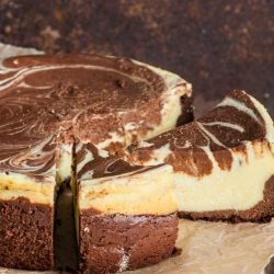 Two-Color Chocolate Cheesecake